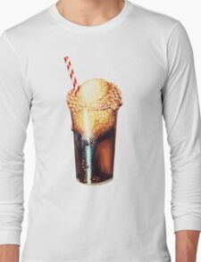 Root Beer Float Pattern Long Sleeve T-Shirt