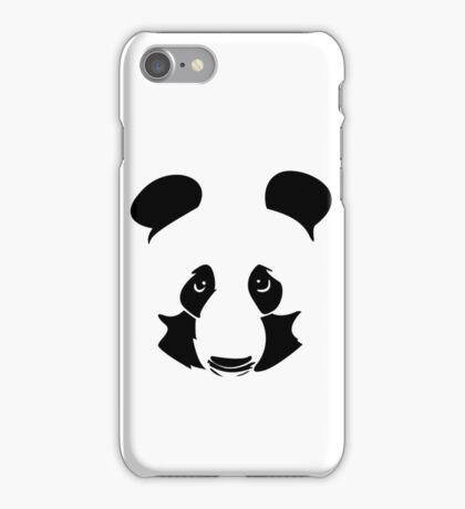 Vector cheetah pencil portrait on the white background iPhone Case/Skin