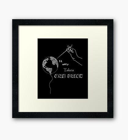 Fragile Earth - Earth Day Framed Print