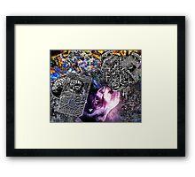 psychedelic pattern Framed Print