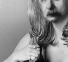 Einstein the vampire slayer Sticker