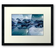 Collage of fjords and mountains Framed Print