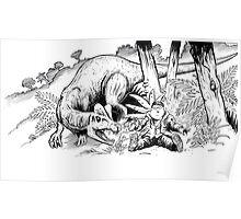 Jurassic Park Cartoon Poster
