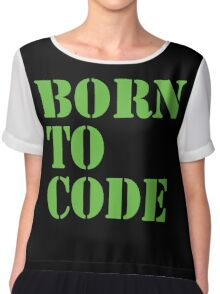 Born to Code Chiffon Top