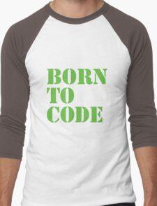Born to Code Men's Baseball ¾ T-Shirt