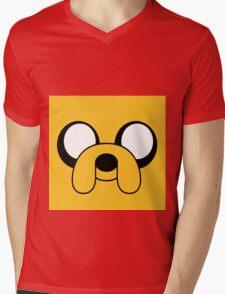 adventure time face of jake Mens V-Neck T-Shirt