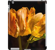 Orange Parrot Tulips 1 iPad Case/Skin