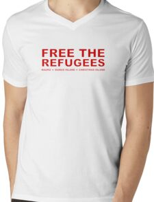Free the Refugees Mens V-Neck T-Shirt
