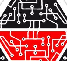 4 triangles form microchip technology cool design pattern Sticker