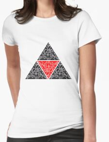4 triangles form microchip technology cool design pattern Womens Fitted T-Shirt