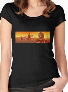 CYBORG ARES IN THE DESERT OF HYPERION Sci Fi Movie Women's Fitted Scoop T-Shirt
