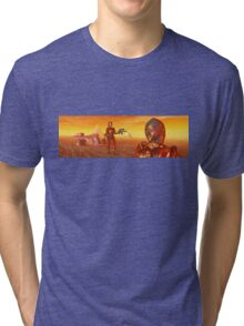 CYBORG ARES IN THE DESERT OF HYPERION Sci Fi Movie Tri-blend T-Shirt