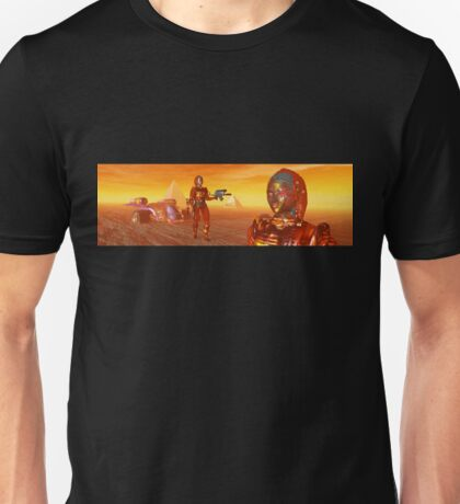 CYBORG ARES IN THE DESERT OF HYPERION Sci Fi Movie Unisex T-Shirt