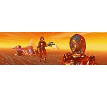 CYBORG ARES IN THE DESERT OF HYPERION Sci Fi Movie Photographic Print
