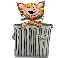 Purrnickerty the Cat - In the trash Photographic Print