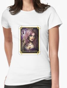 Gemstone Oracle Card - Inner Strength Womens Fitted T-Shirt