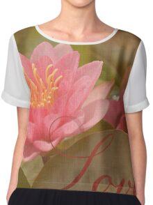 Pink Water Lily Love Chiffon Top