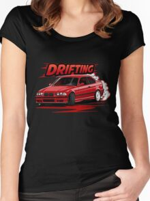 lets drifting Women's Fitted Scoop T-Shirt