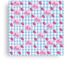 strawberries and cookies Canvas Print
