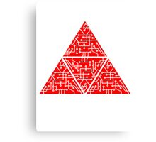 4 triangles form microchip technology cool design pattern Canvas Print