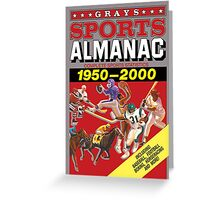 Grays Sports Almanac Complete Sports Statistics 1950-2000 Greeting Card