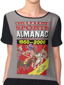 Grays Sports Almanac Complete Sports Statistics 1950-2000 Chiffon Top