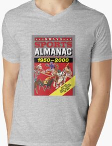 Grays Sports Almanac Complete Sports Statistics 1950-2000 Mens V-Neck T-Shirt