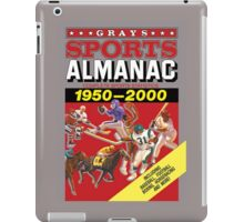 Grays Sports Almanac Complete Sports Statistics 1950-2000 iPad Case/Skin