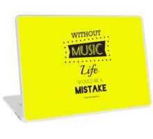 Music Quotes Typography Laptop Skin