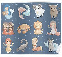 Mini Zodiacs Poster