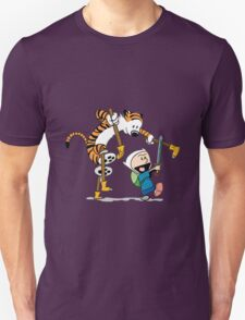 hobbes and calvin time advanture T-Shirt