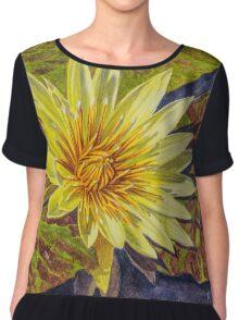 Water Lilies 2 - Yellow Chiffon Top