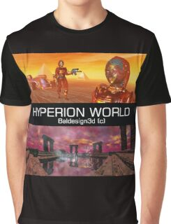 HYPERION WORLD SCIENCE FICTION Scifi Graphic T-Shirt