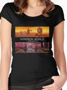HYPERION WORLD SCIENCE FICTION Scifi Women's Fitted Scoop T-Shirt