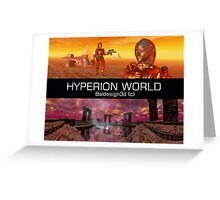 HYPERION WORLD SCIENCE FICTION Scifi Greeting Card