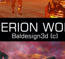 HYPERION WORLD SCIENCE FICTION Scifi Sticker