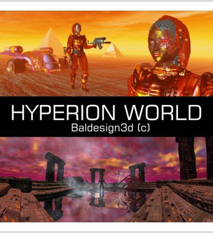 HYPERION WORLD SCIENCE FICTION Scifi Sticker