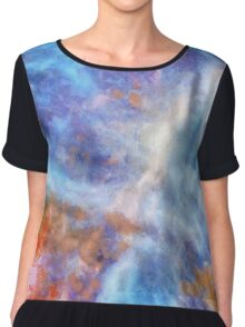 Ascending From A Dive Decorative Abstract  Art Women's Chiffon Top