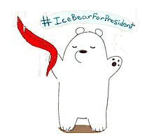 Ice Bear For President Photographic Print