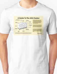 Guide to the AGA Cooker Unisex T-Shirt
