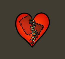 Stitched Heart red Unisex T-Shirt