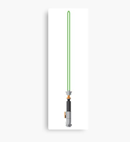 Luke Skywalker Lightsaber Canvas Print