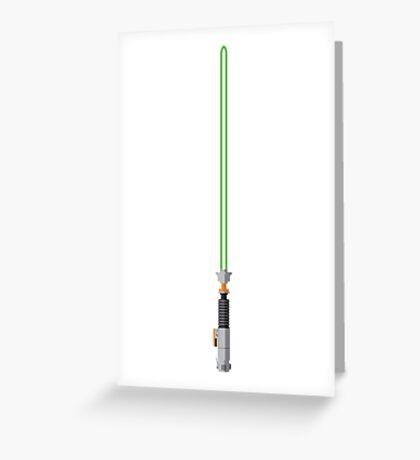 Luke Skywalker Lightsaber Greeting Card