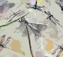 Dragonflies - Grayish by Betsy  Seeton