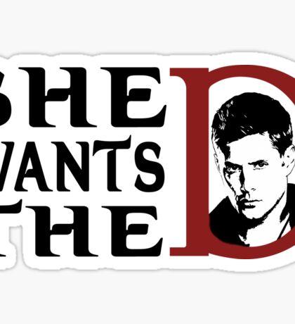 She wants the dean Sticker