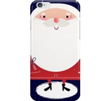 Cute Santa with note Vector cartoon iPhone Case/Skin