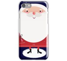 Cute Santa with note Vector cartoon iPhone Case/Skin
