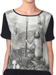 Between the roots and the branches Chiffon Top
