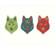 Spirit Wolves Art Print
