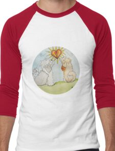 Tibetan Terrier Love Men's Baseball ¾ T-Shirt